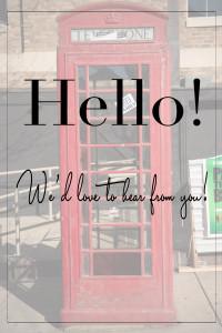 Hello - Contact Us